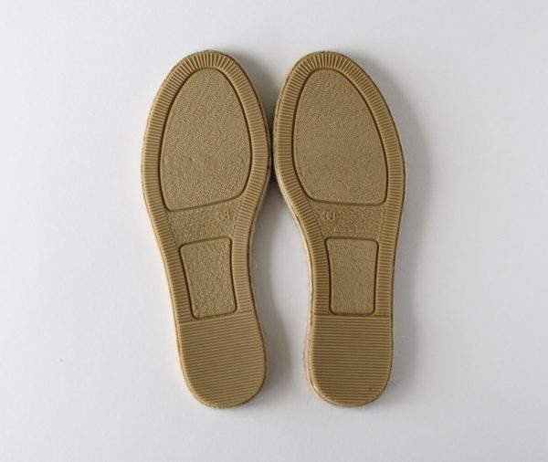 Espadrille sole bottom natural rubber