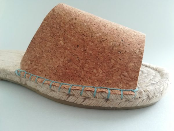 Espadrilles mules with cork