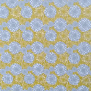 cotton yellow and gray circles