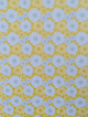 cotton yellow and gray circles